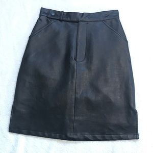 Accomplice | Vintage Faux Leather Skirt